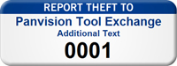 Customizable Report Theft Asset Tag with Numbering