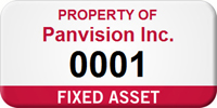 Fixed Asset Personalized Asset Label with Numbering