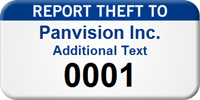 Report Theft To Custom Asset Tag with Numbering