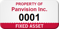 Custom Fixed Numbered Asset Tag