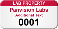 Custom Lab Property Asset Tag with Numbering