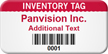 Custom Inventory Tag Asset Tag with Barcode