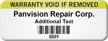 Customizable Warranty Void Asset Tag with Barcode