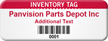 Personalized Inventory Asset Tag with Barcode