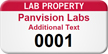 Lab Property Custom Asset Label with Numbering
