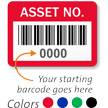 Asset Number Barcode Labels (Pack of 1000)