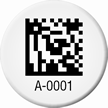 Customizable 2D Barcode Circular Asset Tags
