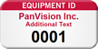 Custom Equipment Id Add Own Text Tag, Numbering