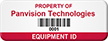 Custom Barcode Numbering Asset Tag, Add Company Name