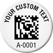 Create 2D Barcode Numbered Asset Tags