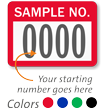 SAMPLE NO. Label, numbering, pack of 1000