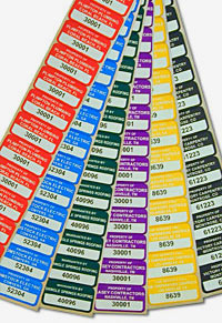 Asset Tags Come in a Broad Range Of Appealing Colors.