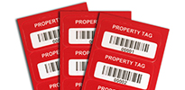 Metal 'Property of' Asset Tags