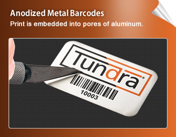 Anodized Metal Barcodes