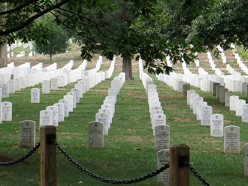 Arlington National Cemetary headstones