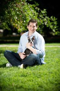 Pet Check's Doug Simon with dog
