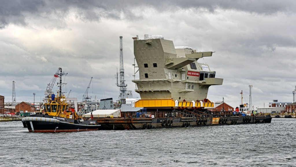 Bridge of the HMS Queen Elizabeth