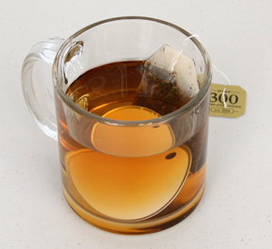 Tag in tea water