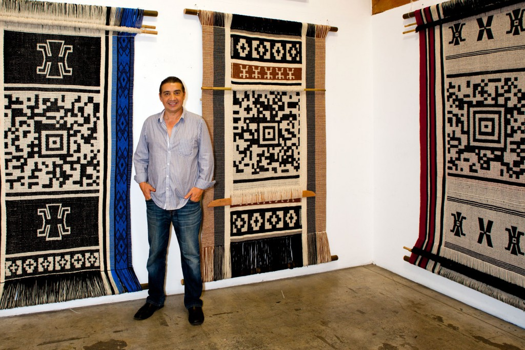 Guillermo Bert encoded textiles