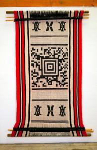 QR-coded textile