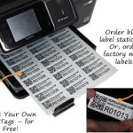 Print your own QR asset tags