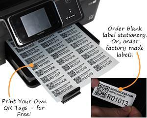 Juicy image inside printable asset tags