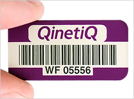 Anodized Barcodes on asset tag