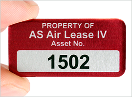 Anodized Numbering on asset tag