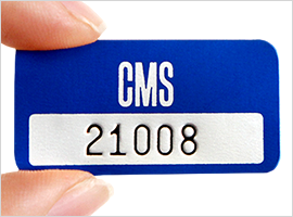 Stamped Numbering on asset tag