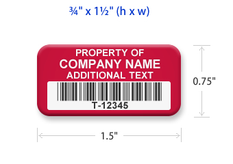 graphic about Printable Asset Tags called Personalized Asset Tags